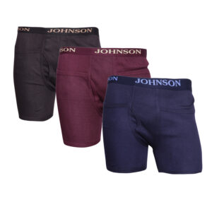 Johnson Men's Multi Color Pocket Trunks (Colors May Vary)..... (Pack Of 3)