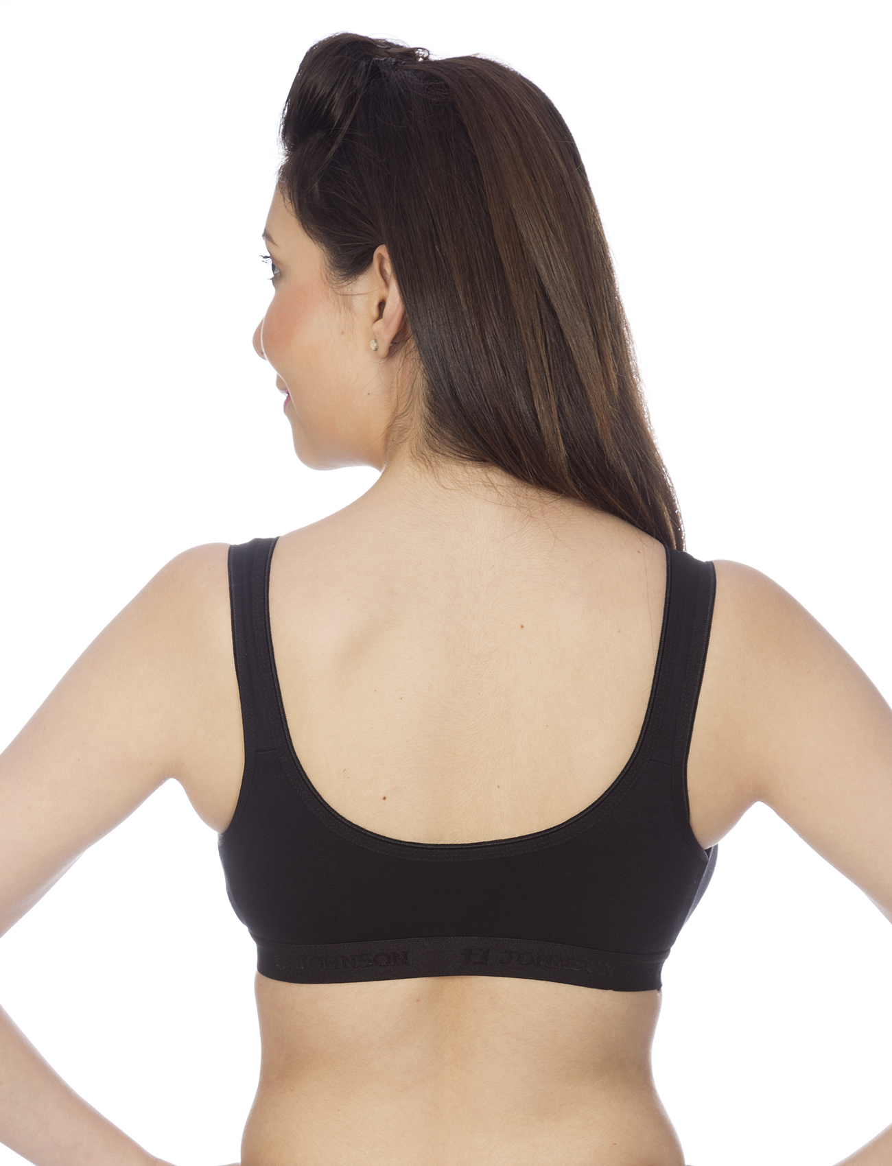 Johnson Sports Non Padded Multi Color Sports Bra ( Pack Of 3 )