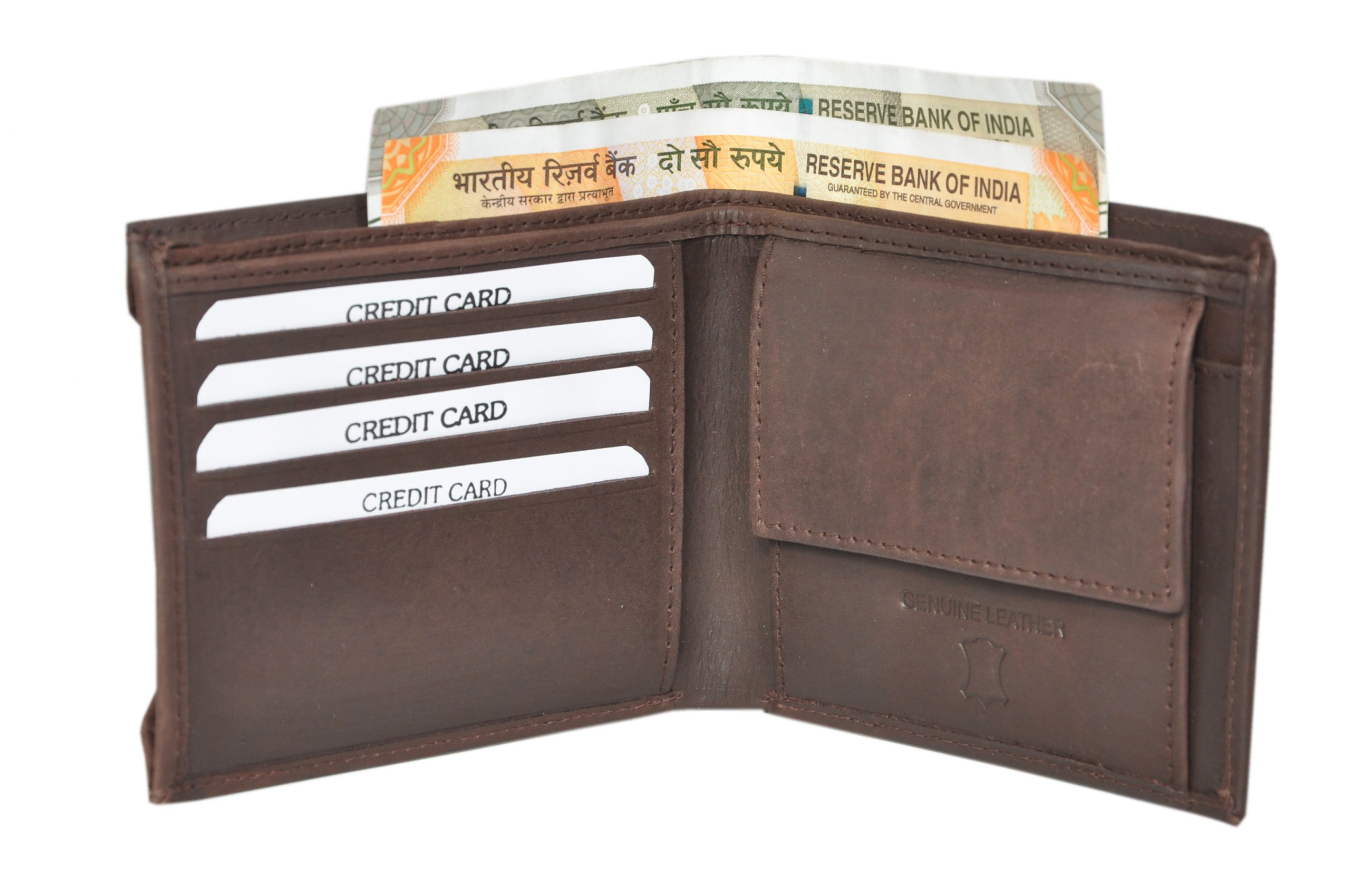 Johnson Hunter Leather Men's Wallet (Pack Of 1)