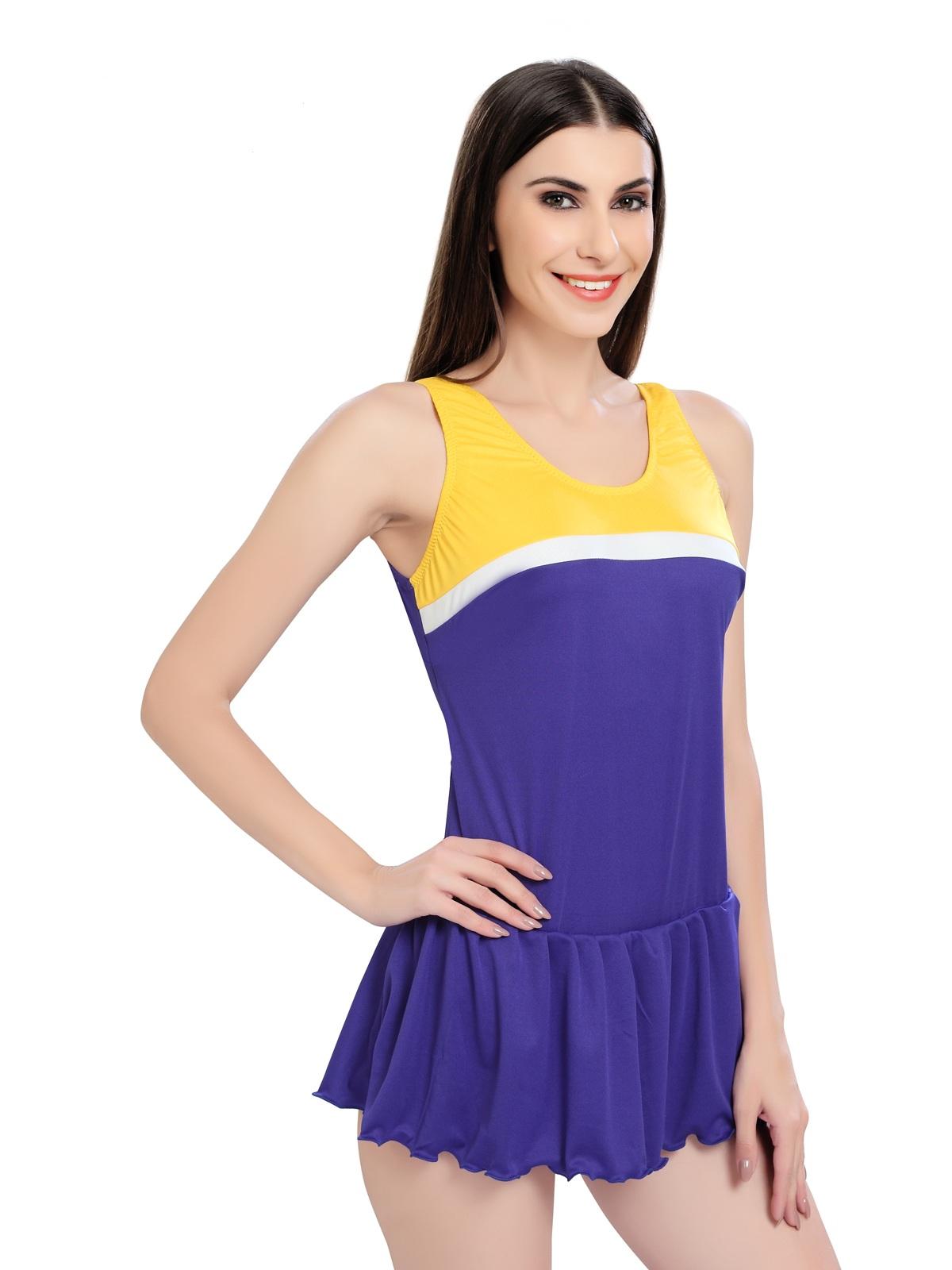 Enkay Dolphin Women Solid Swimsuit (Pack Of 1)