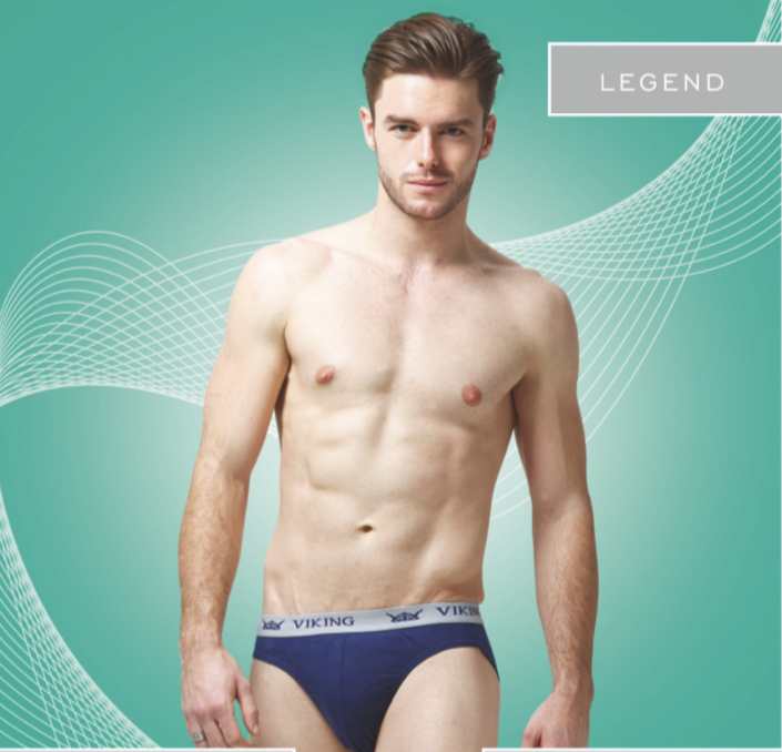 Viking Legend Multicolor Brief (Colors May Vary) (Pack Of 3)