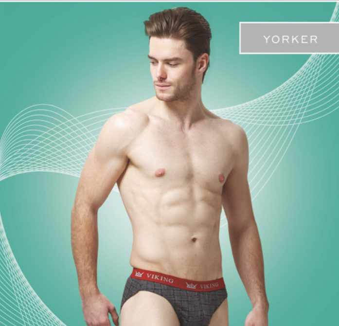 Viking Yorker Multicolor Printed Brief (Colors May Vary)............. (Pack Of 3)