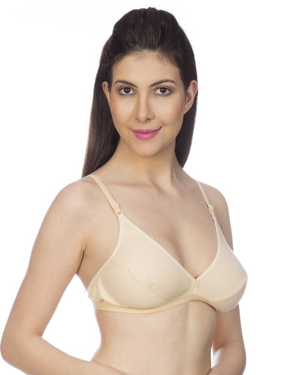 Johnson JIVA Full Coverage Non Padded Multi Color Bra.............. (Pack Of 3)