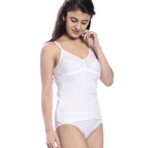 Johnson SONA Women's Multi Color Cotton Camisole (Pack Of 3)