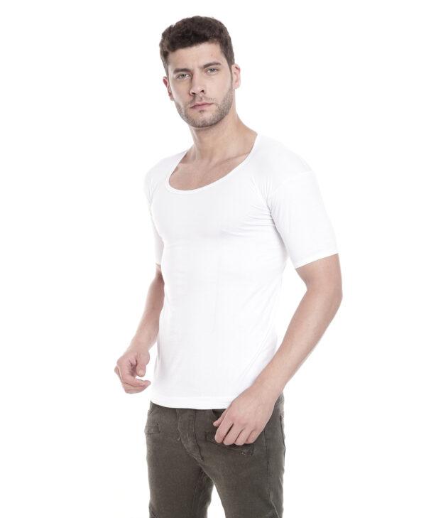 Johnson Good Morning Men's White Color Half Sleeves Vest (Pack Of 3)